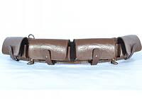 Патронташ на 24 патрона закрытый кожаный коричневый