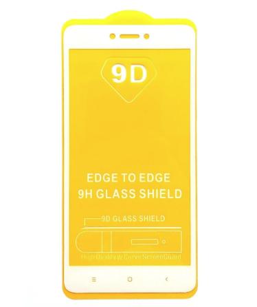 Защитное стекло 9D Xiaomi redmi 5A Рамка Белая полная проклейка 9H захисне скло ксиоми