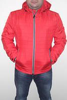 Куртка стеганая мужская красная