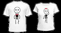 "Парные футболки ""Скелетики"", фото 1"