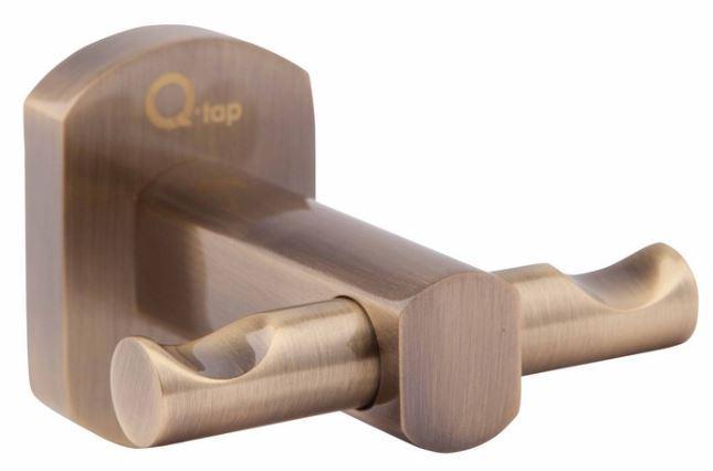 Крючки для ванной Q-tap Двойной крючок Q-TAP Liberty QTLIBANT1154, бронза