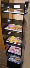 Стойка для журналов и газет из стекла