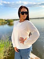 Красивая блуза с длинным рукавом, фото 3