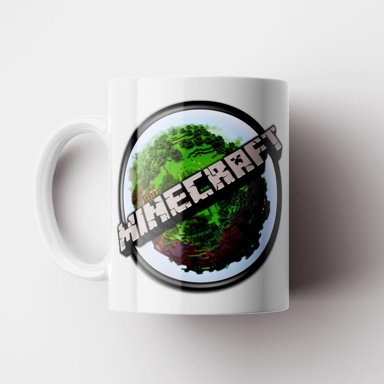 Чашка Minecraft. Кружка Майнкрафт. Чашка с фото