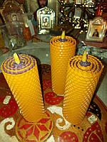 Восковые свечи из вощины с Можжевельником