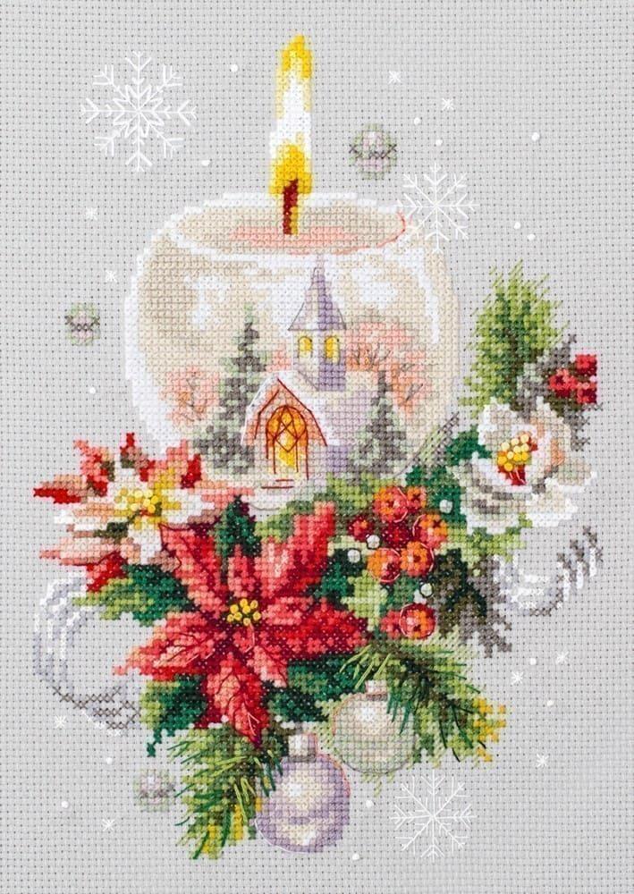Набор для вышивки крестом Чудесная игла 100-231 «Рождественская свеча»