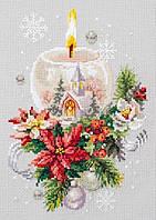 Набор для вышивки крестом Чудесная игла 100-231 «Рождественская свеча», фото 1