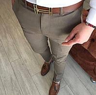 Мужские брюки темно-бежевые DJ-408