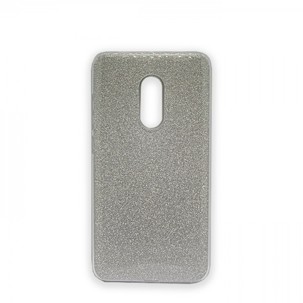Чехол Samsung A8+/A730 (2018) Silicon + Plastic Shine Silver