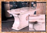 Стол из натурального камня, мрамор, гранит, оникс , Компания Babich Design, Полтава