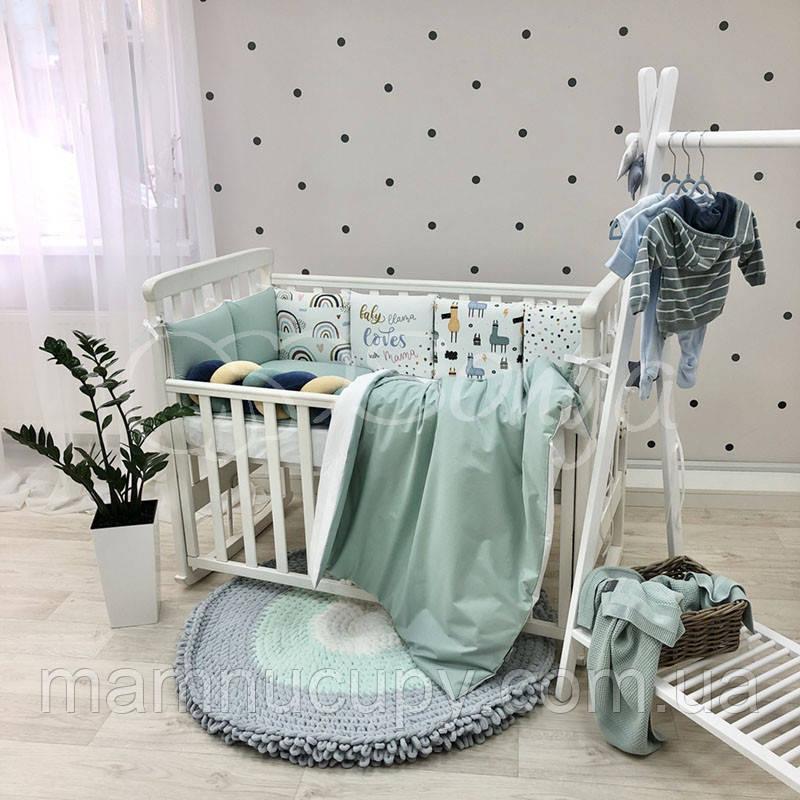 Комплект постільної білизни в стандартну ліжечко Art Design Лами ТМ «Маленька Соня»