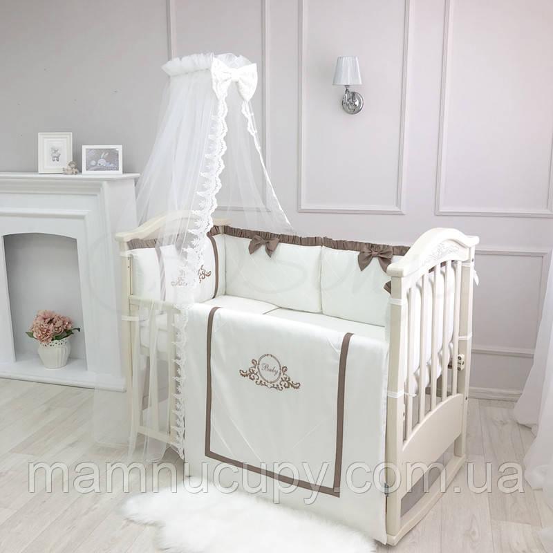 Комплект белья в детскую кроватку Belissimo шоколад ТМ «Маленькая Соня»