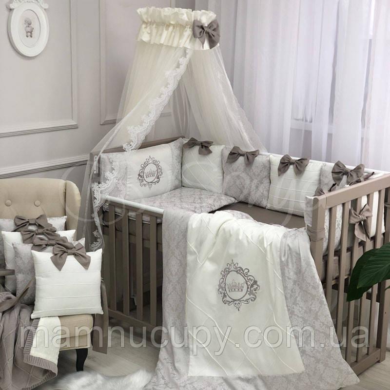 Комплект постельного белья в стандартную кроватку Elegance какао ТМ «Маленькая Соня»