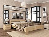 """Двоспальне ліжко """"Рената"""" з бука (щит, масив), фото 4"""