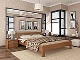 """Двоспальне ліжко """"Рената"""" з бука (щит, масив), фото 5"""