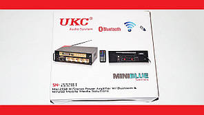 Усилитель звука UKC SN-222BT FM USB Блютуз + Караоке