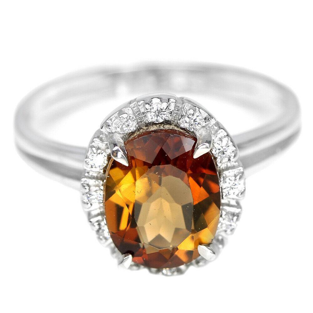 Серебряное кольцо с топазом Империал, 2481КЦТ