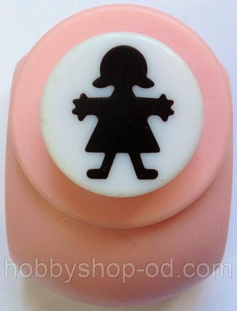 Дирокол фігурний Дівчинка кнопка 1,8 см