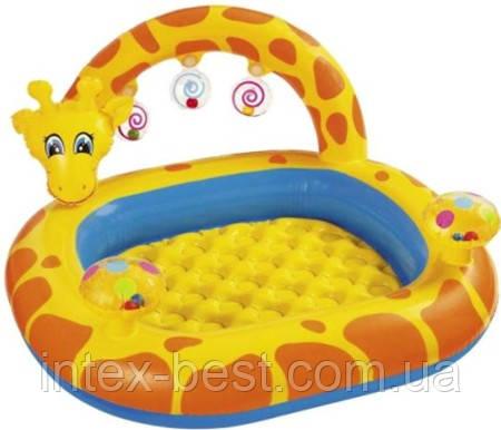 """Детский надувной бассейн с погремушками """"Жираф"""" Intex 57404"""