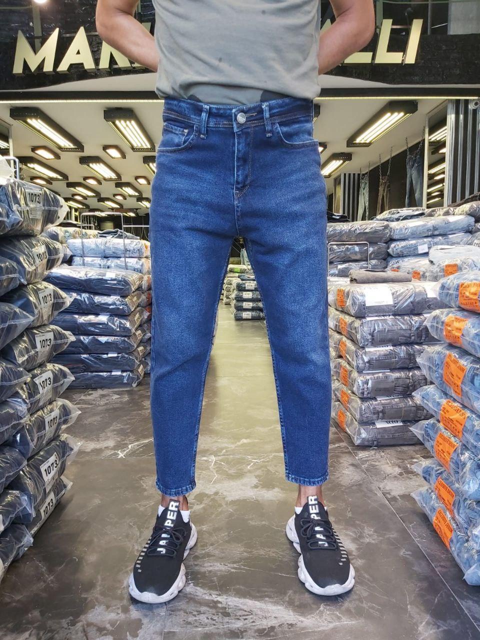 Джинсы - Мужские синие джинсы МОМ