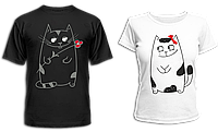 """Парные футболки """"Милые коты"""""""