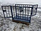 Весы для взвешивания животных Горизонт VTP 300 кг 750х1250 мм (с клеткой 900 мм), фото 4