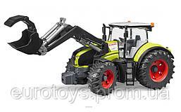 Игрушка Bruder Трактор Claas Axion 950  с погрузчиком 1:16 (03013)