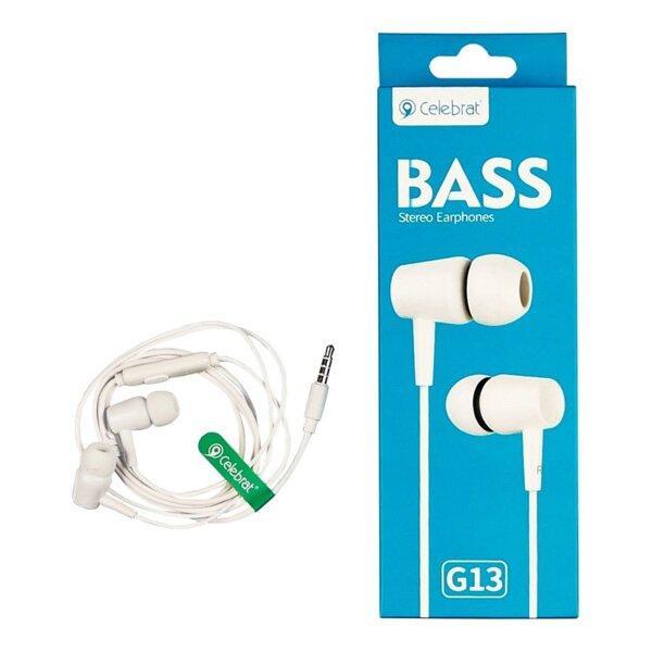 Навушники вакуумні Celebrat G13 білі