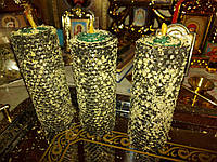 Восковая свеча из вощины с полынью