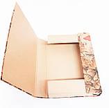 Папка-короб на резинке, А4, 40 мм, КРАФТ, фото 7