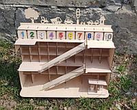 Парковка для машинок. Детская парковка. деревянный гараж для машинок.