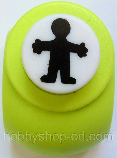 Дирокол фігурний Хлопчик кнопка 1,8 см