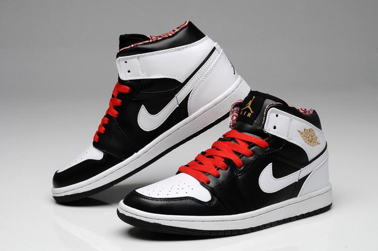 446eedac Баскетбольные кроссовки Nike Air Jordan 1 black-red-white - Интернет  магазин обуви Shoes