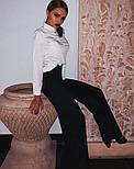 Женская белая рубашка из софта с мелкими пуговицами 6813399, фото 3