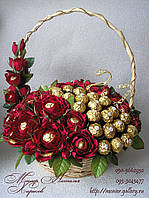 """Букет з цукерок """"Хвиля"""" з Ферреро Роше, фото 1"""