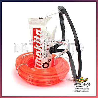 Набор: Защитные очки + леска 2.4мм 15м + редукторная смазка 80мл