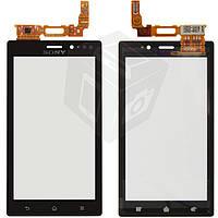 Touchscreen (сенсорный экран) для Sony Xperia Sola MT27i, оригинал (черный)
