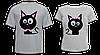 """Парные футболки """"Влюблённые коты"""""""
