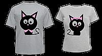 """Парные футболки """"Влюблённые коты"""", фото 1"""