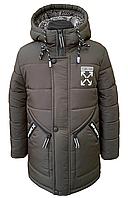 Модная зимняя куртка на мальчика размеры 110-150 . Модель 2020-2021