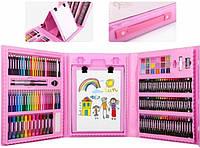 Чемоданчик Юного художника для рисования Take Go Set 208 предметов с мольбертом розовый