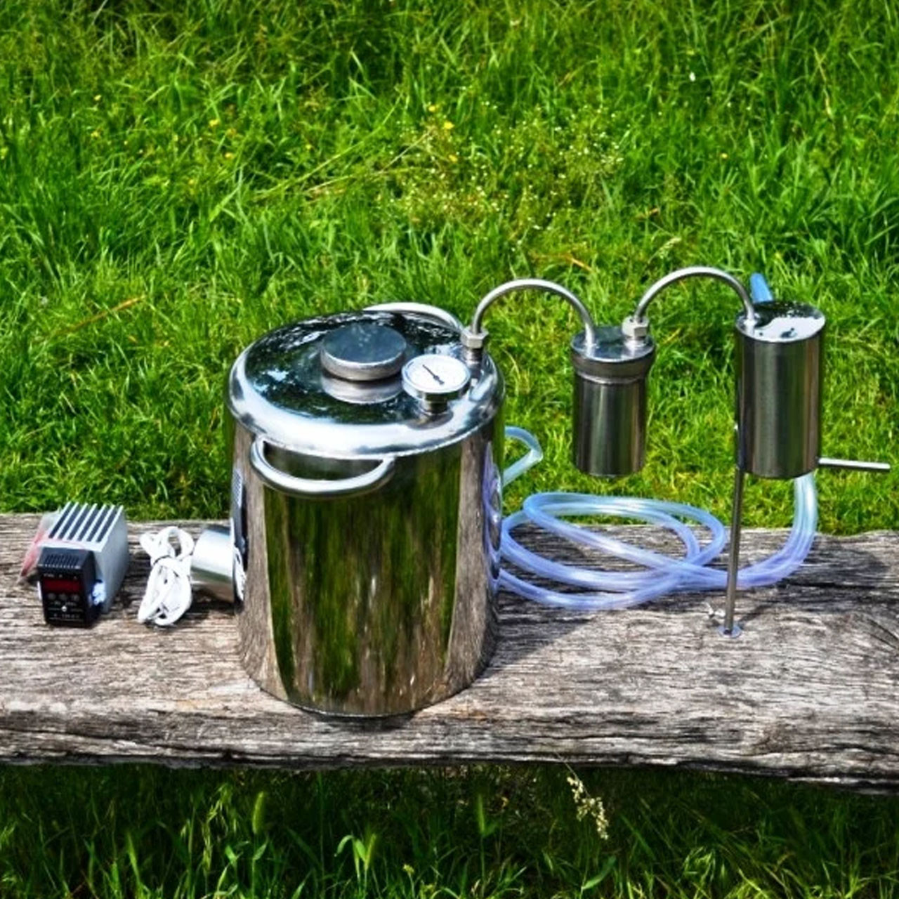 Нержавеющий бытовой дистиллятор с электрическим теном