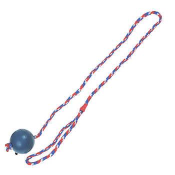 Игрушка Flamingo Ball With Rope ФЛАМИНГО для собак, мяч из литой резины на веревке, 7 см