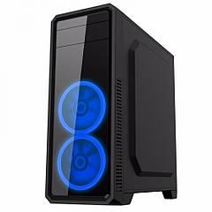 Корпус GameMax G561-F Blue ATX без БП. УЦІНКА (бита передня панель, кулера на місці)!