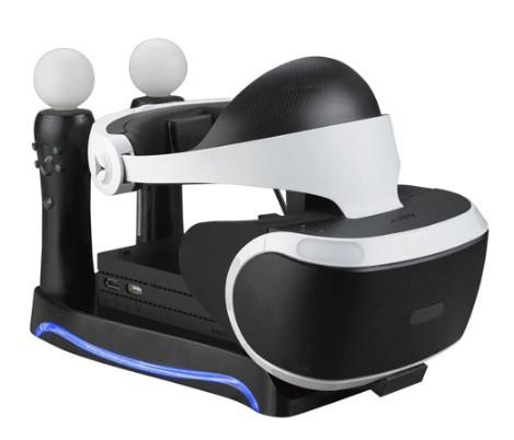 Зарядная док-станция подставка KJH для PS Move и PS VR с подсветкой