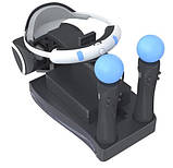 Зарядная док-станция подставка KJH для PS Move и PS VR с подсветкой, фото 2