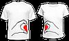 """Парные футболки """"Половинки сердца"""""""