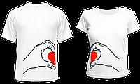 """Парные футболки """"Половинки сердца"""", фото 1"""