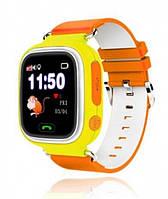 Оригинал! Умные Смарт-часы детские UWatch Q90 GPS контроль звонки сообщения SOS Wi-Fi черные, розовые