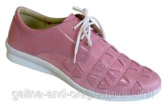 Кроссовки туфли женские кожаные 6541R002